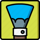 brush, drawing, fan, illustration, painting, tool icon