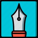 drawing, illustration, nib, painting, pen, tool icon
