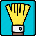 brush, drawing, fan, illustration, painting, rough, tool icon
