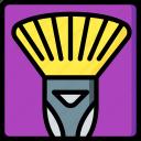 brush, drawing, fan, illustration, medium, painting, tool icon