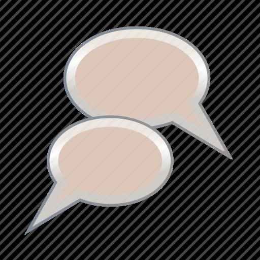 bubble, bubbles, document, paper, talk icon