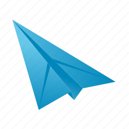 airplane, note, page, paper, plane icon