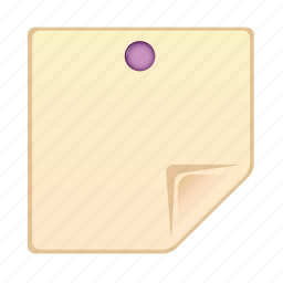 document, note, paper, pin, sheet icon