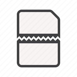 cut, document, documents, line, paper icon