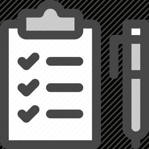 checklist, clipboard, pen, tasks, todo, write icon