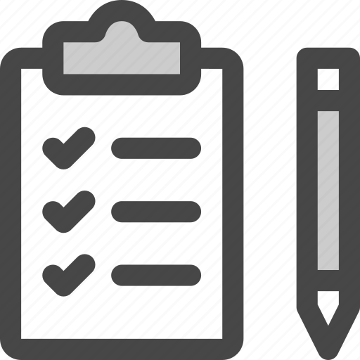 checklist, clipboard, draw, pencil, tasks, todo icon
