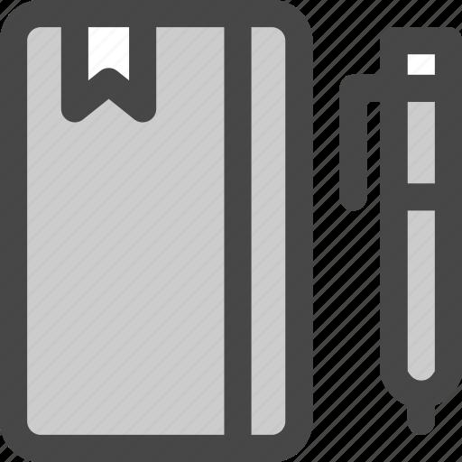 bookmark, diary, journal, notebook, pen, write icon
