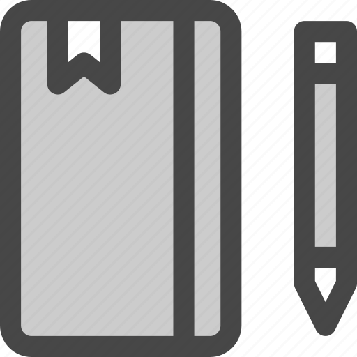 bookmark, diary, draw, journal, notebook, pencil icon