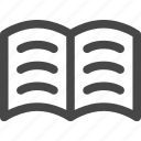 book, education, open, pages, reading, study, text icon