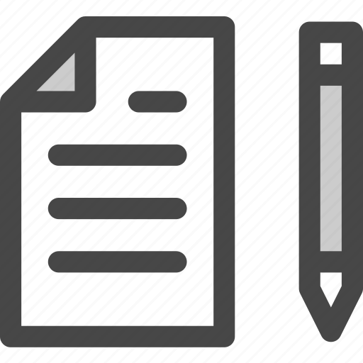 document, draw, file, office, page, paper, pencil icon