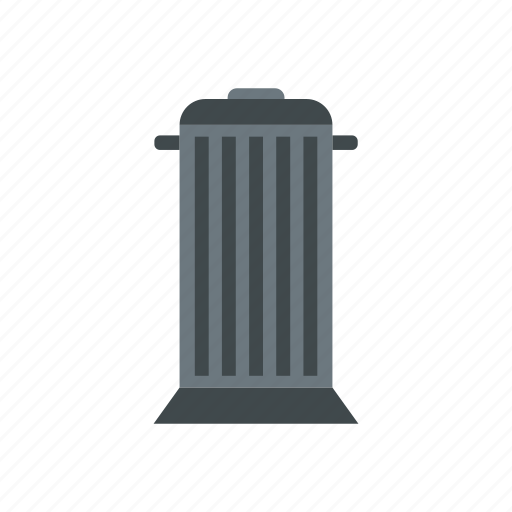 basket, bin, can, garbage, grey, rubbish, trash icon