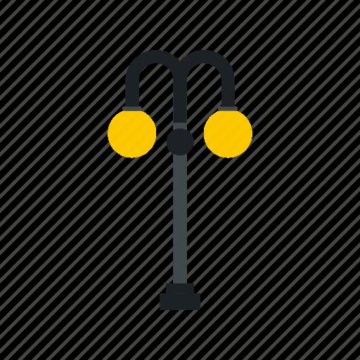 city, electricity, equipment, lamp, light, pole, street icon