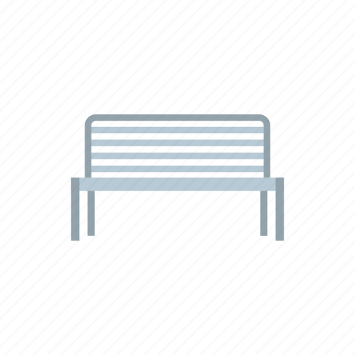 bench, grass, metal, outdoor, park, rest, seat icon