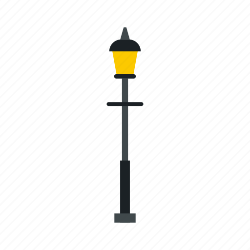 electricity, equipment, lamp, light, pole, retro, street icon