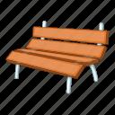bench, garden, park icon