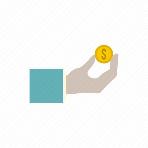 arm, business, coin, economy, hand, human, money icon