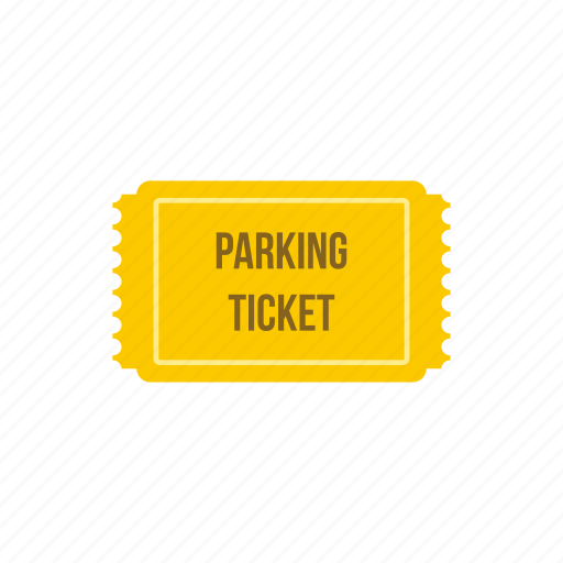 area, bill, car, garage, park, parking, ticket icon