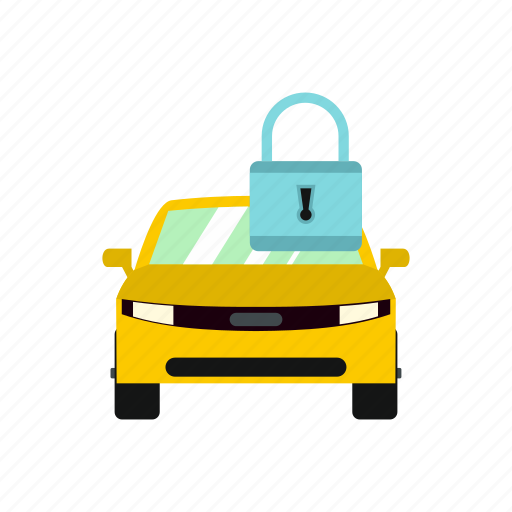 automobile, car, door, lock, padlock, transport, vehicle icon