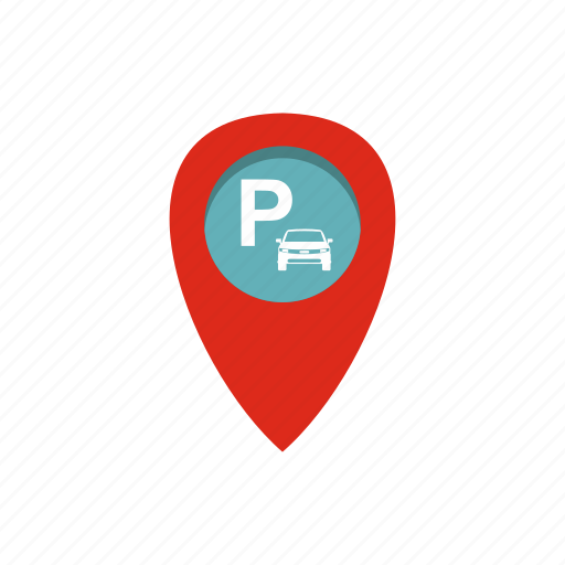 car, guide, parking, place, pointer, position, travel icon