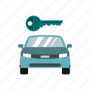 auto, automobile, business, buy, car, key, transportation icon