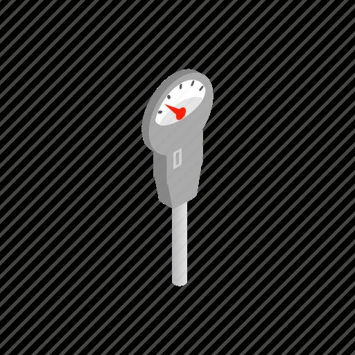 arrow, device, isometric, measurement, measuring, meter, pressure icon