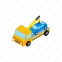 car, hauls, isometric, parking, penalty, tow, truck icon