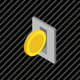 car, fees, isometric, meter, parking, street, urban icon