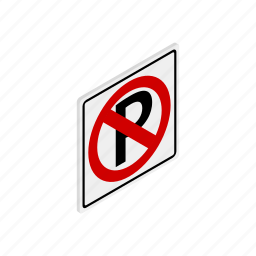 car, forbidden, isometric, no, parking, prohibited, traffic icon