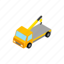 help, isometric, service, tow, traffic, transportation, truck