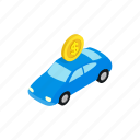 fine, impound, isometric, parking, service, transportation, truck icon