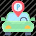 parking, vehicle, traffic, pin, location, car