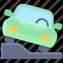 parking, vehicle, traffic, pavement, park, car, slope