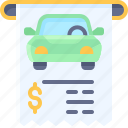 parking, vehicle, traffic, fee, park, car, reciept