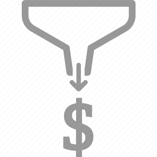 business, filter, funnel, marketing, money, performance, process icon