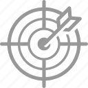 aim, archery, arrow, success, target icon