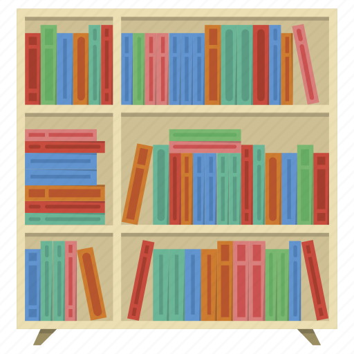 bookcase, cabinet, cupboard, furniture, interior, storage, wooden icon