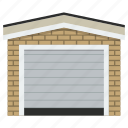 auto, building, garage, home, transport, vehicle, vehicle zone icon