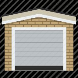 auto, building, garage, home, transport, vehicle, vehicle zone icon
