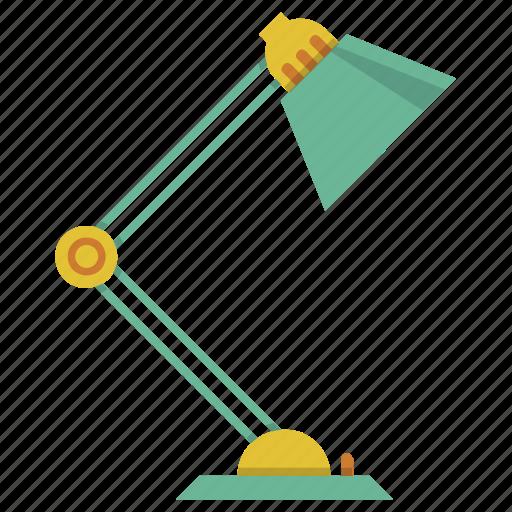 bulb, desk lamp, electric, lamp, light, lightning, study lamp icon