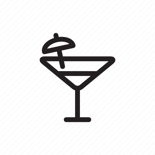 champagne, drink, feast, festival, outline, party, umbrella icon