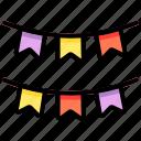 decoration, celebration, party, flag