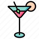 martini, drink, alcohol, cocktail
