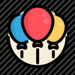 balloons, birthday, decoration, party icon
