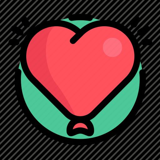 balloon, balloons, birthday, decoration, heart, love, party icon