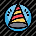 birthday, decoration, hat, party