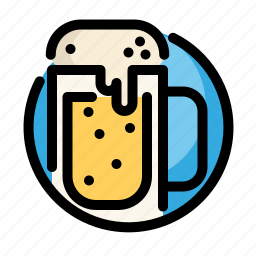 alcohol, beer, birthday, decoration, drink, party icon