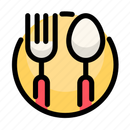 birthday, decoration, dinner, food, fork, party, spoon icon