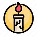birthday, candle, decoration, party icon