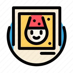 birthday, decoration, party, photo icon