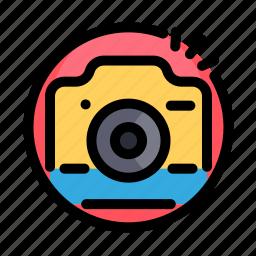 birthday, camera, decoration, party, photo icon